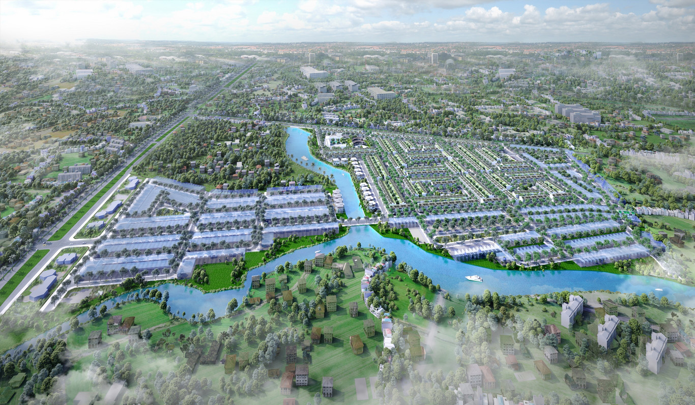 Dự án đất nền nhà phố và biệt thự Lux Home Gardens giao thông thuận tiện kênh sinh lợi