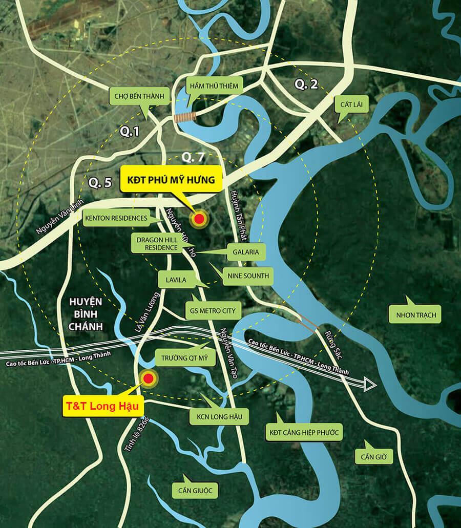 Dự án T&T Millennia City Cần Giuộc và sự ảnh hưởng của thị trường Cần Giuộc
